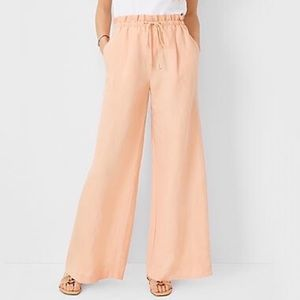 NWT Ann Taylor Paperbag Palazzo Pant in Washed Apricot